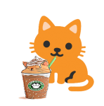 Cat Drinking Iced Coffee.png