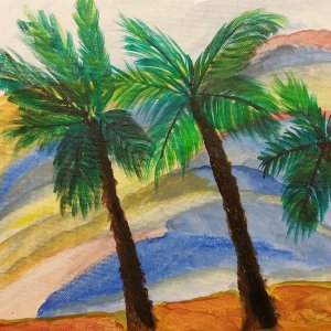 painting palm trees