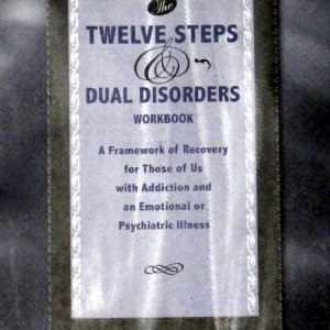 12 steps & dual disorders workbook book.  Hazelden