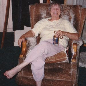 my beloved mother enjoying a fosters.jpg